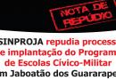 SINPROJA repudia processo de implantação do Programa de Escolas Cívico-Militar em Jaboatão dos Guararapes