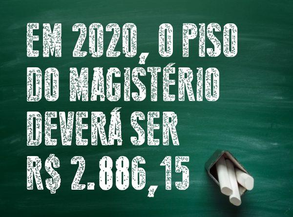 Em 2020, o Piso Nacional do Magistério deverá ser R$ 2.886,15