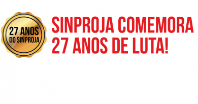 SINPROJA Comemora 27 Anos de Luta!
