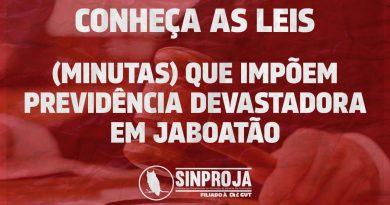 Conheça as leias(minutas) que impõem previdência devastadora em Jaboatão